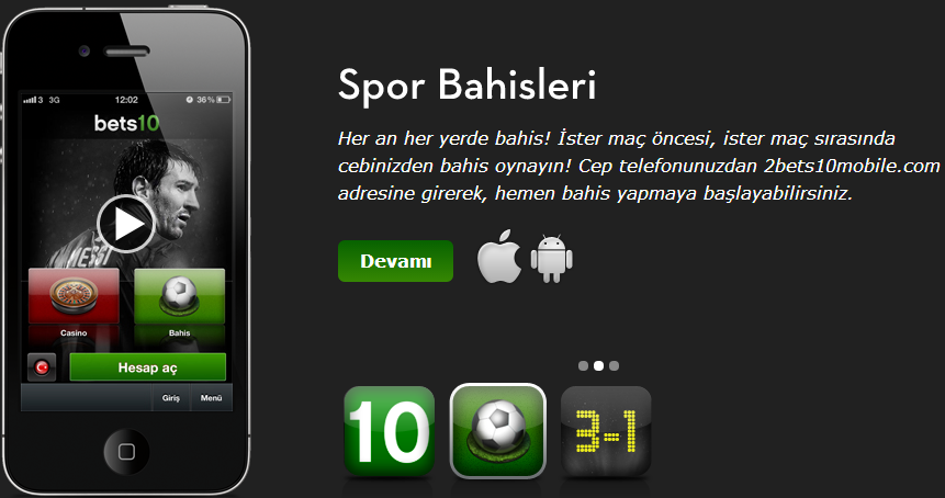 bets10 mobile android and iphone